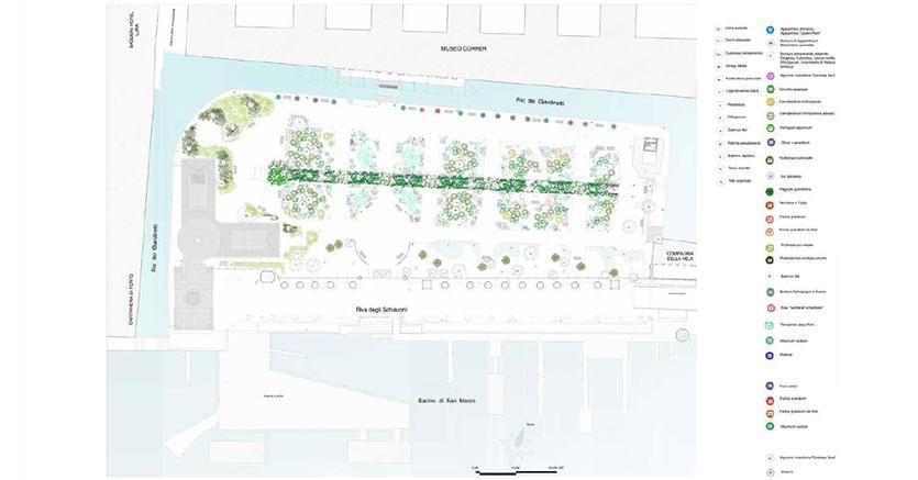 Planimetria del progetto di restauro