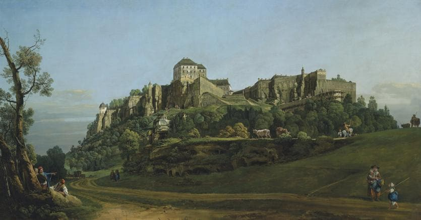 Bernardo Bellotto,  Fortress of Königstein from the North (1757)