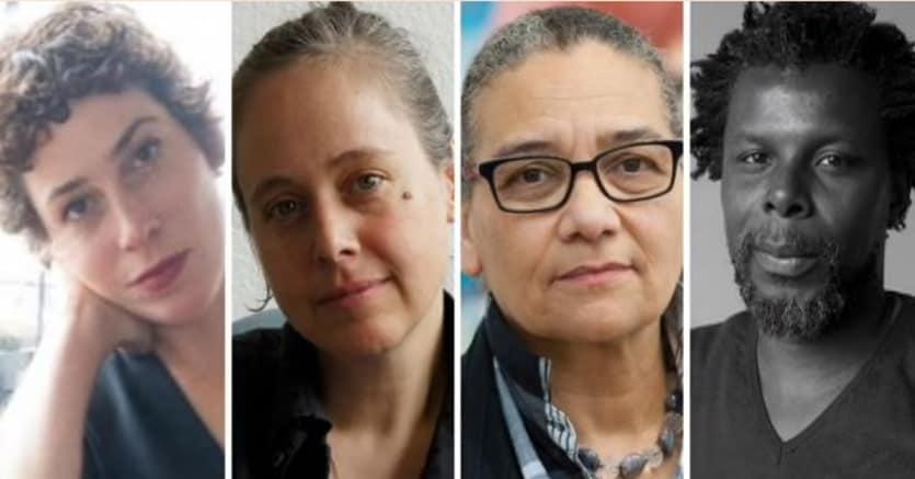 Short list artisti Turner Prize 2017, da sinistra Rosalind Nashashibi, Andrea Buttner, Lubaina Himid e Hurvin Anderson