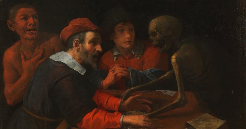 Pandolfini. La morte al tavolo dell'avaro, olio su tela di Giovanni Martinelli, artista del XVII secolo aggiudicata a 186 mila euro