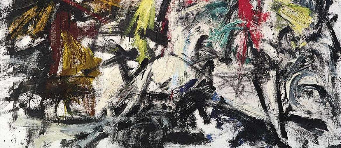 Emilio Vedova (Venezia 1919-2006), Tensione, N 4 V, 1959, firmato, datato e intitolato Emilio Vedova / Tensione 1959 N. 4. V sul verso, olio su tela, 145,5 x 196 cm, prezzo realizzato € 792.500, Courtesy Dorotheum