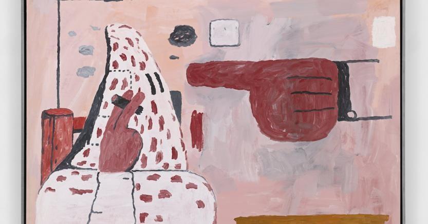 Philip Guston, Untitled, 1969, Lithographic crayon and oil on panel, Venduto da Hauser & Wirth per 2.000.000 US$
