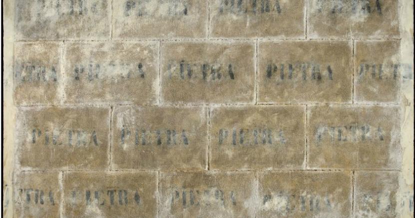 Italian Sale 18 ottobre 2013, Christie's London - Pino Pascali (1935-1968) Muro di pietra (Pietra pietra) Wall of stone (Stone stone) (Lot 81)Price realised GBP 1,650,500Estimate GBP 400,000 - GBP 600,000