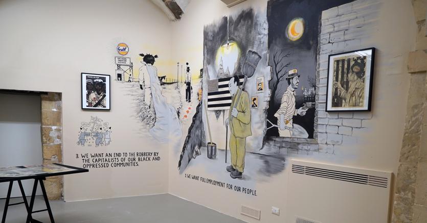 Emory Douglas, Freedom Is A Constant Struggle, installation view galleria Laveronica 2017, ph. Antonella Pulvirenti