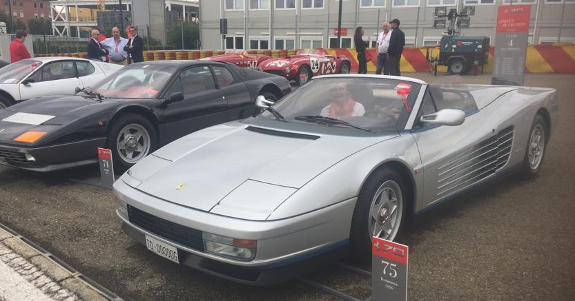 La Ferrari Testarossa Spider modello unico, già proprietà di Gianni Agnelli, vincitrice del Concorso d'Eleganza a Fiorano