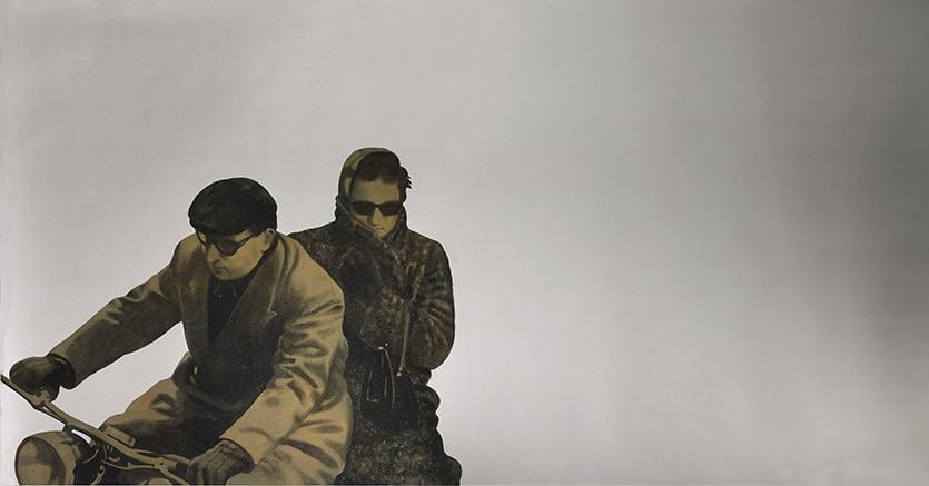 Lot 28 - Michelangelo Pistoletto, Motociclisti, 1967, stima £ 1.200.000-1.600.000, aggiudicato £ 1.508.750