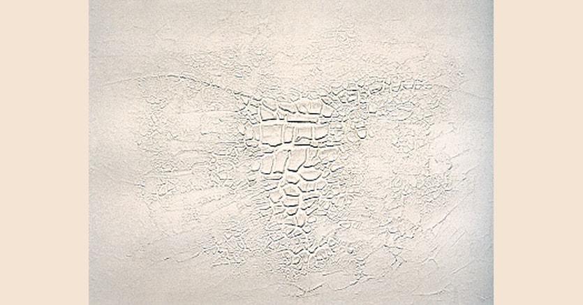 «Cretto Bianco», 1971 di Alberto Burri,  acquaforte acquatinta - 67 x 96.5 cm
