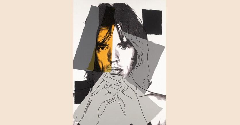 «Mick Jagger (F. & S. II.147)» 1975, di Andy Warhol, serigrafia a colori, A.P. 4/50, 1108 x 733 mm, venduta da Sotheby's a Londra il 20 settembre 2017 per 40.000 sterline da una stima di 25-35.000 sterline