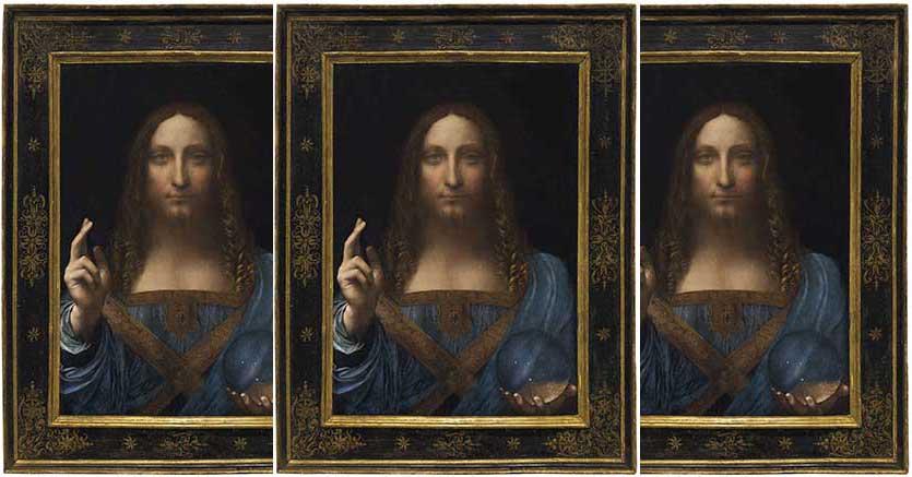 Salvator Mundi, Leonardo da Vinci (1452-1519), oil on panel, 65,7 x 45,7, Estimate in the region of 100 million $