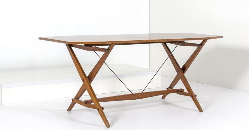Albini Franco, tavolo mod TL2, prod. Poggi 1950, cm 71x180x70, realizzo 8.500 euro