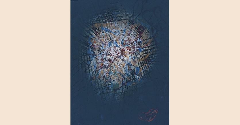 «A Face»,1953, Yayoi Kusama, tempera, acquarello, inchiostro e pastello su carta, 29,5 x 22,5 cm, in asta da Christie's New York nella  Morning Session il 16 novembre, stima 70.000-100.000 $