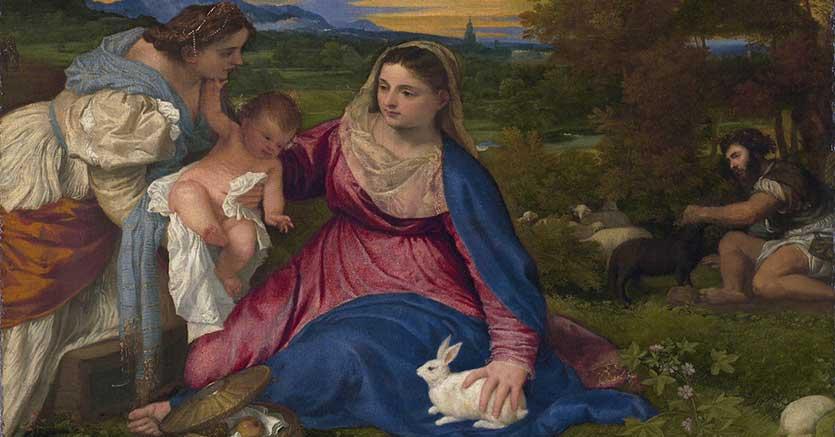 Edouard Manet, Copie de la Vierge au lapin Succession B. Caprotti