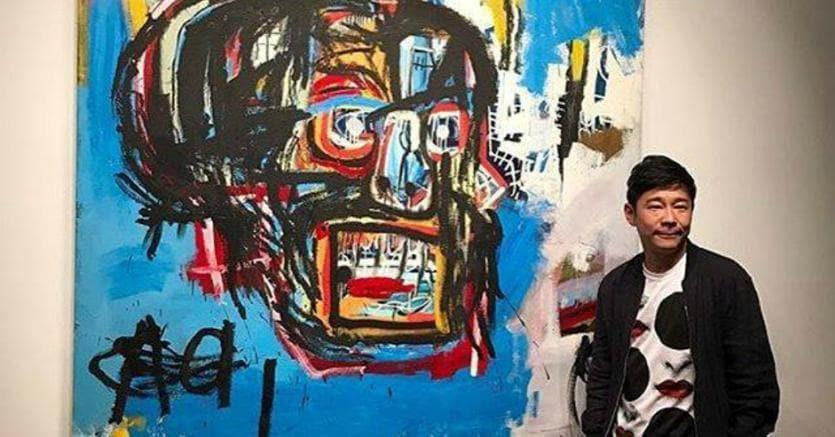 Jean-Michel Basquiat Untitled, 1982 venduto per 110,5 milioni di dollari al giapponese Yusaku Maezawa