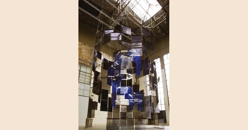 «Silo of Silence – Clicked Core»di Haegue Yang, veduta dell'installazione al KINDL – Centre for Contemporary Art, Berlino, 2017