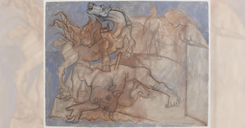 Minotauro ferito, cavallo e figure (particolare) © Succession Picasso / 2018, ProLitteris, Zurich