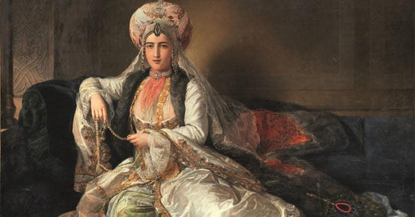 """Pandolfini un maestoso dipinto ad olio di Pietro Lucchini, """"La Sultana"""" aggiudicato per 320mila euro"""