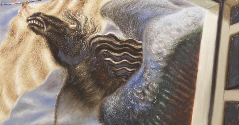 Alberto Savinio, Pégase, olio su tela, cm 74 x 62, stimato 200-300.000 euro, venduto per 272.200 euro