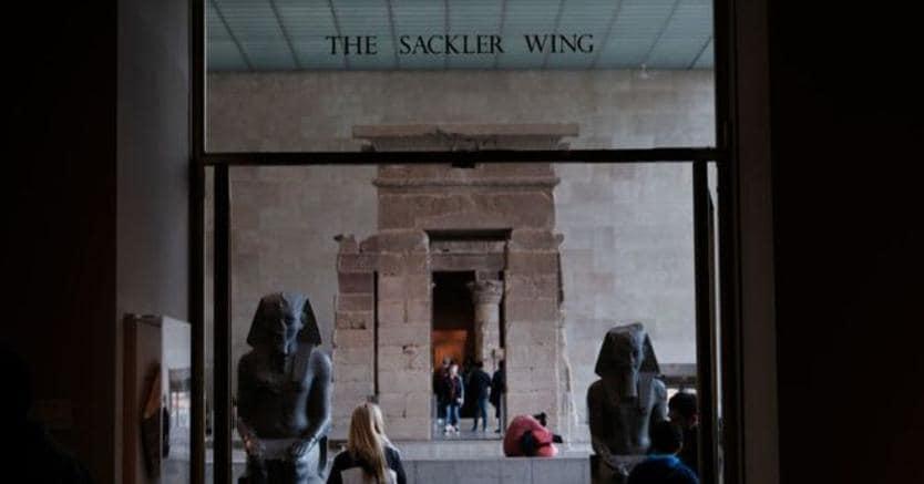 l'ala del Metropolitan Museum realizzata grazie alle donazioni della famiglia Sackler