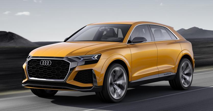 Audi Q8 Sport concept. Che anticipa in modo definitivo le forme del modello di serie.