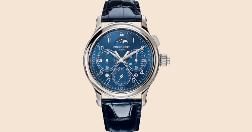 Il cronografo rattrapante con calendario perpetuo e cassa in platino.