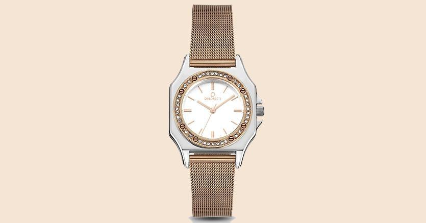 Il Paris lux crystal con bracciale in acciaio rose gold