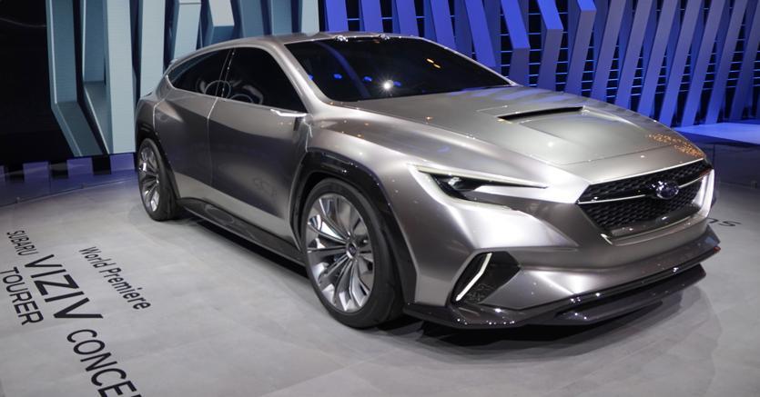 La futura Levorg. Nel concept  Subaru Vizir Tourer ci sono le possibili basi della nuova familiare del brand giapponese. Sotto al cofano il classico boxer e la trazione è integrale permanente