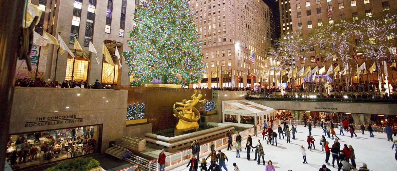 La pista di pattinaggio e l'albero di Natale del Rockefeller Center (NYC Company)