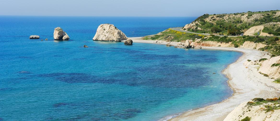 Veduta di Petra Tou Romiou, spiaggia dove nacque Afrodite (ph Stefano GERARDI)