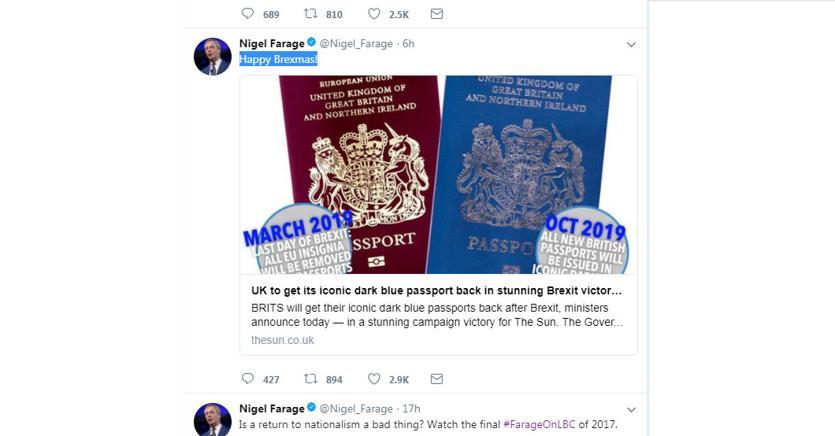 Brexit: in Gran Bretagna tornano i passaporti blu e oro