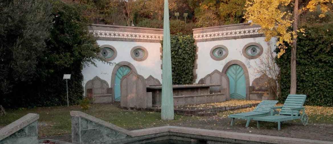 Un angolo del Giardino Portoghesi a Calcata, in Lazio (PH Il Parco più Bello)