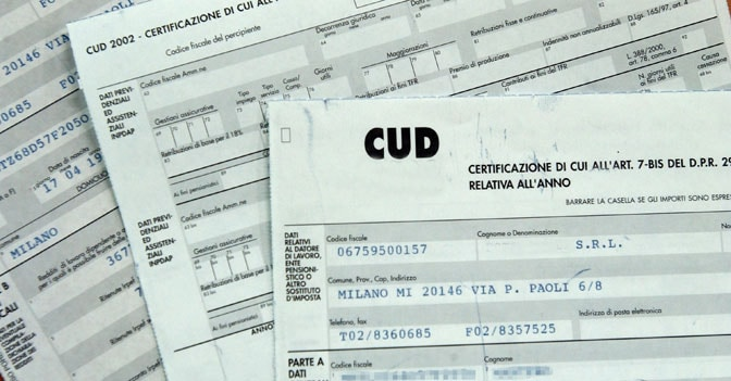 cud pensionati dove si