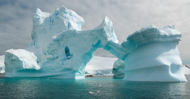 Un'immagine dei ghiacci del Polo Sud (foto Hans M_ller/archivio Hurtigruten)