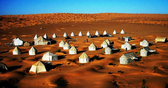 """L'accampamento di lusso """"Camp Mars"""""""