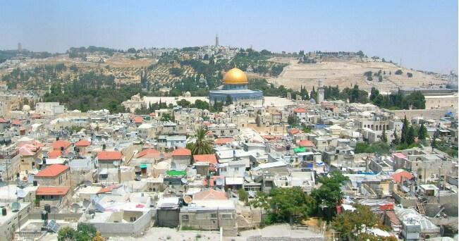 Veduta della città vecchia di Gerusalemme. Sullo sfondo la Cupola della Roccia (foto Arianna Garavaglia)