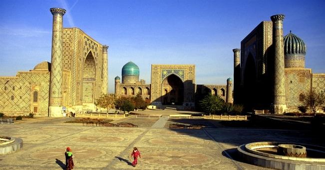 Il Registan, un insieme di madrase e simbolo di Samarcanda