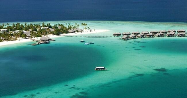 Veduta di Halaveli, nell'atollo Ari (foto Constance Halaveli)