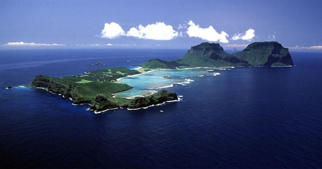 Una veduta aerea di Lord Howe Island, in Australia