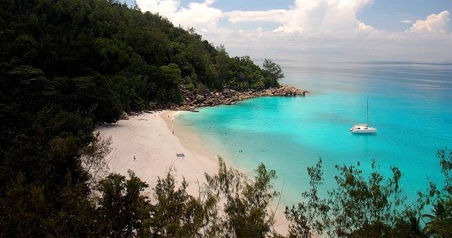 La spiaggia di Anse Georgette