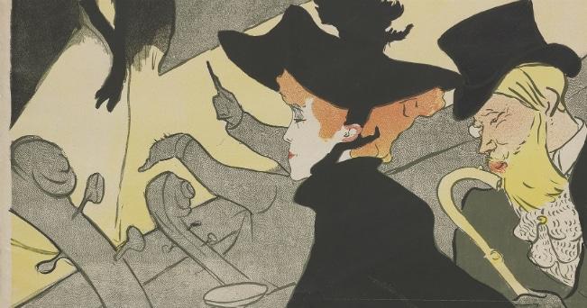 Henri de Toulouse-Lautrec, Divan Japonais, 1893. Lithograph (in four colours) on wove paper, 81x62,3 cm. Budapest, Galleria Nazionale (Szepmuveszeti Muzeum) ©Museum of Fine Arts, Budapest 2015