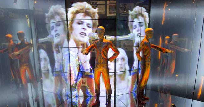 Installation, Shot of David Bowie is (courtesy David Bowie Archive; credits Victoria and Albert Museum, London)