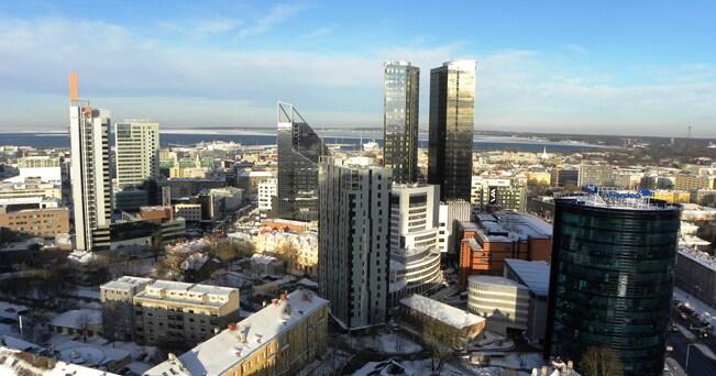 Tallinn, veduta sulla parte moderna della città