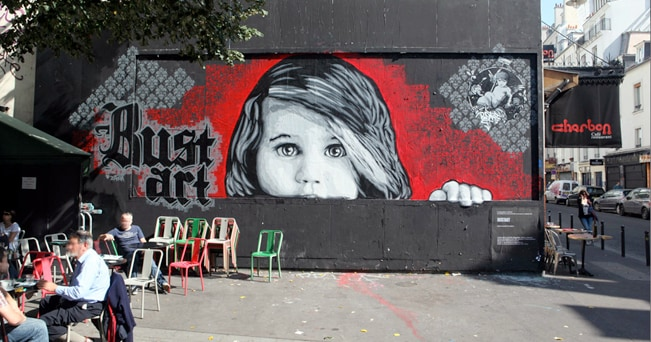 Un murale di Bust art, 23 settembre 2011 (Le MUR / foto Thomas Schmitt)