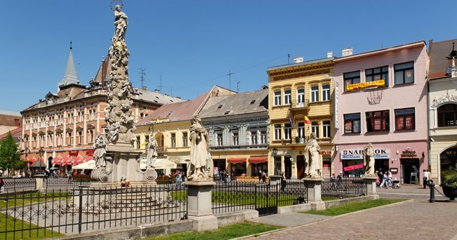 Il centro storico di Košice (foto Alamy/Milestone Media)