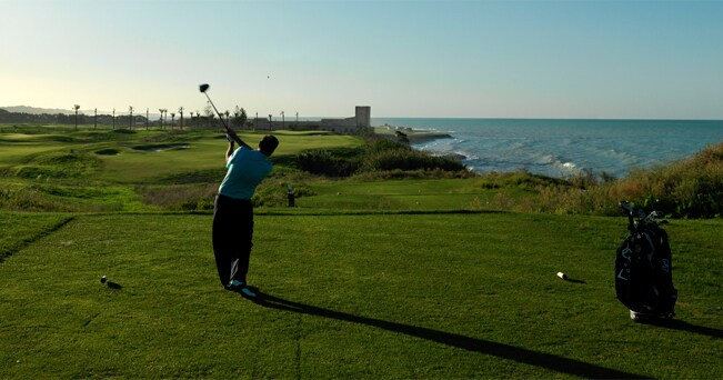 Una buca del Mazagan Beach Resort & Golf, a sud di Casablanca