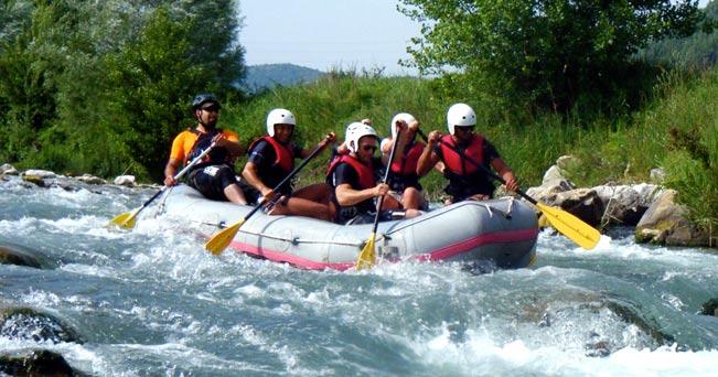 Rafting lungo il Sele, nel Cilento