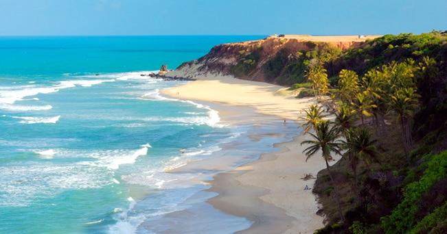 Una spiaggia brasiliana, nello stato di Rio Grande do Norte (foto Fabio Pili / Alamy)
