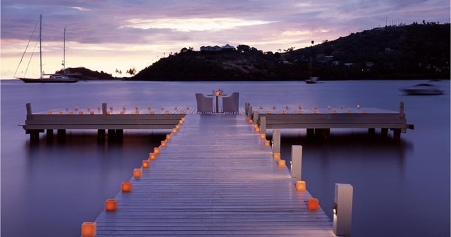 Pontile del resort Carlisle Bay di Antigua