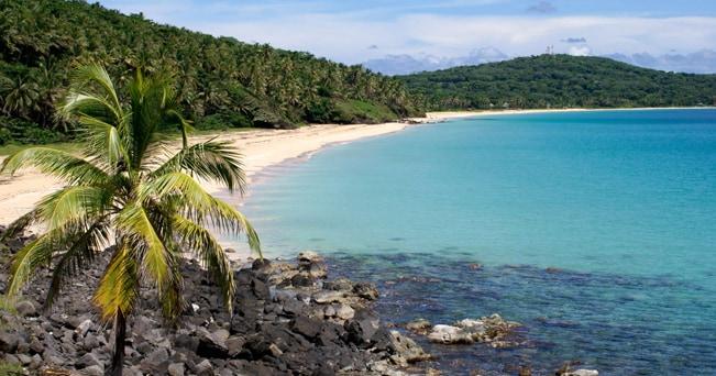 Una spiaggia bordata di palme a Big Corn Island (foto Alamy/Milestone Media)