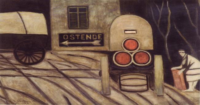 Leon Spilliaert, The Barrel Cart, 1927 ph: WIII da Flickr