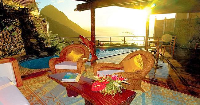 Ladera, St. Lucia. Un lodge di lusso all'insegna della natura